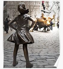 Fearless girl statue Poster