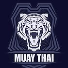 Muay Thai Power Shield - Tiger - Thailand Martial Art by lu2k