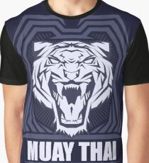 Muay Thai Power Shield - Tiger - Thailand Martial Art Graphic T-Shirt