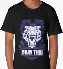 Muay Thai Power Shield - Tiger - Thailand Martial Art Long T-Shirt