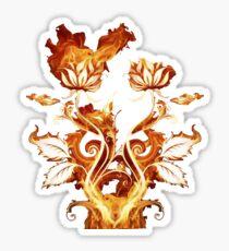 BURNING FLOWERS  Sticker