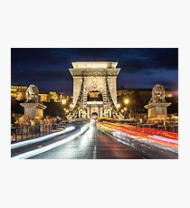 Budapest Chain Bridge Photographic Print
