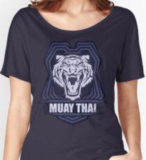 Muay Thai Power Shield - Tiger Scratch - Thailand Martial Art Women's Relaxed Fit T-Shirt