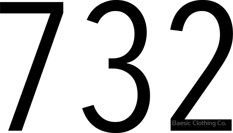Plain Black Area Code Stickers By Baesic Clothing Co Redbubble - 732 area code