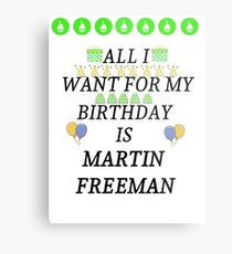 Birthday Freeman Metal Print