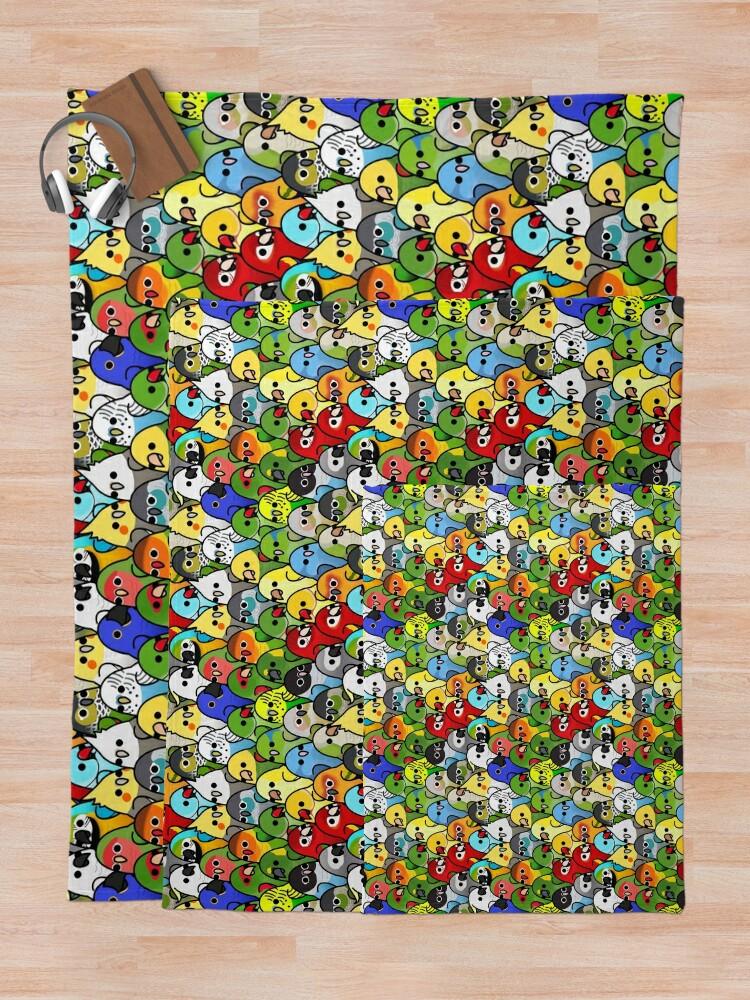 Alternate view of Too Many Birds! Bird Squad Classic Throw Blanket