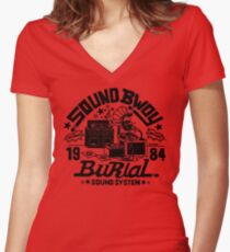 Sound Bwoy Women's Fitted V-Neck T-Shirt