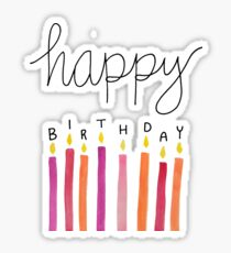 happy birthday candles pink Sticker
