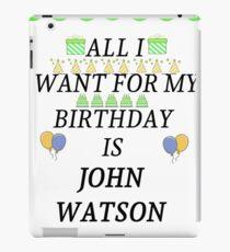 Birthday John Watson iPad Case/Skin