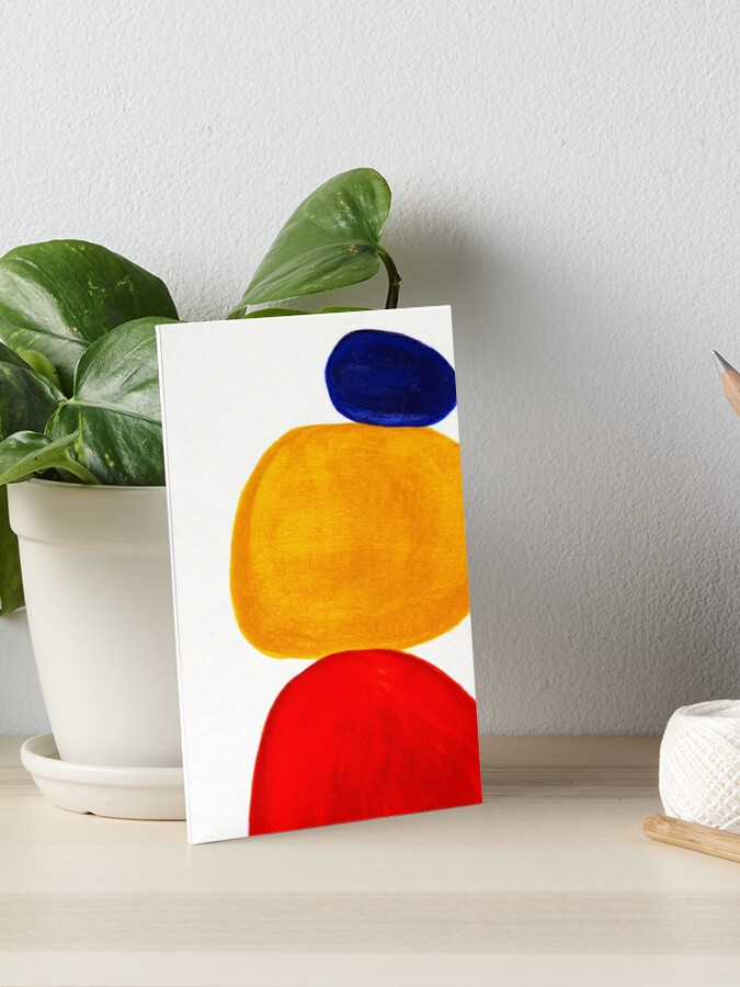 Stacked Rocks Art Board Print By Allybdesign Redbubble