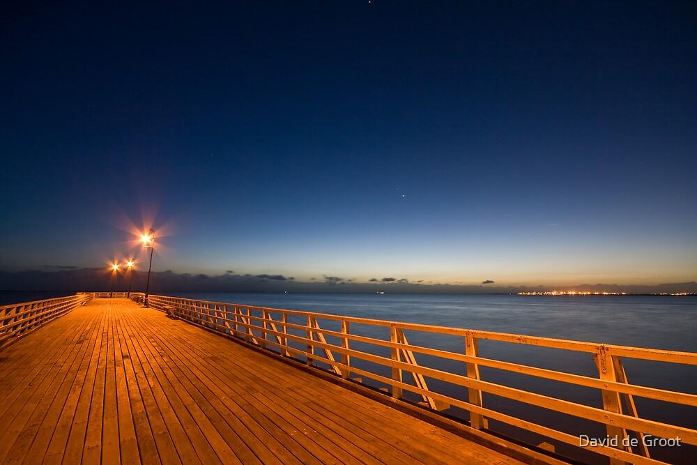 Pre-Dawn Pier by David de Groot