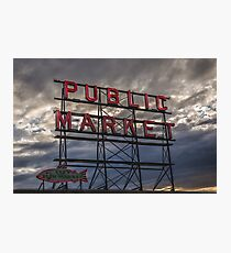 Seattle Public Market Photographic Print