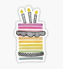 rainbow cake Sticker