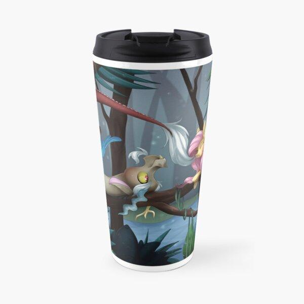 Fluttershy and Discord Travel Mug