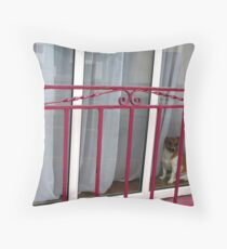 Doggy In The Window Throw Pillow