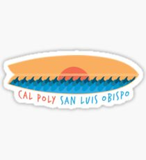 Cal Poly Surfboard Sticker