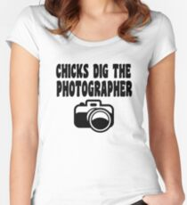 Camera T Shirt Women's Fitted Scoop T-Shirt