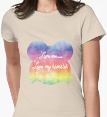 Love me, love my hamster Womens Fitted T-Shirt