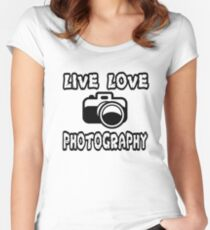 Photography T Shirt  Women's Fitted Scoop T-Shirt
