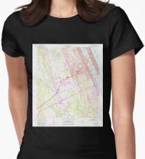 USGS TOPO Map Florida FL Daytona Beach 345752 1952 24000 Womens Fitted T-Shirt