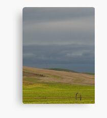 Stormy Wheatfields Canvas Print