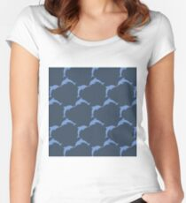Dolphin Love  Women's Fitted Scoop T-Shirt