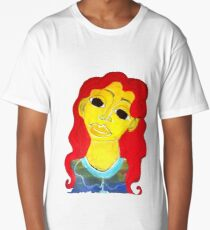Red Haired Woman Long T-Shirt