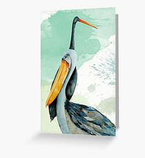 Percy the Pelican hangs out with friends Greeting Card