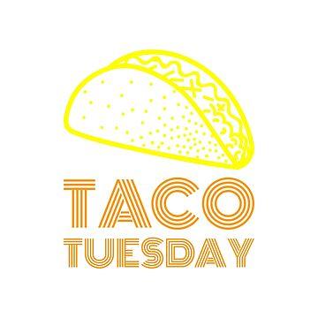 Taco Tuesday - Retro Style Funny  by curbapparel