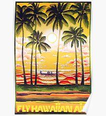 FLY HAWAIIAN AIR Poster