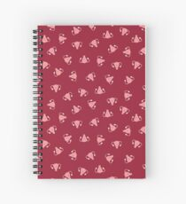 Crazy Happy Uterus in Red, small repeat Spiral Notebook