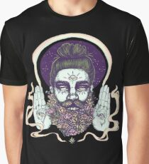 Flower Beard || Psychedelic Illustration by Chrysta Kay Graphic T-Shirt