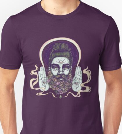 Flower Beard || Psychedelic Illustration by Chrysta Kay T-Shirt