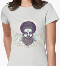 Flower Beard || Psychedelic Illustration by Chrysta Kay Womens Fitted T-Shirt