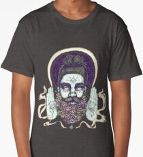 Flower Beard || Psychedelic Illustration by Chrysta Kay Long T-Shirt
