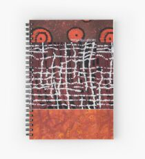 Orangeshed triptych part a, b & c Spiral Notebook