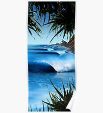 Hawaii Blue Poster