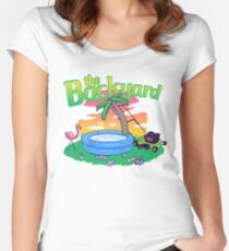Backyard Vacation Women's Fitted Scoop T-Shirt