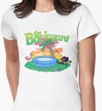 Backyard Vacation Womens Fitted T-Shirt
