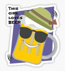This girl loves beer Sticker