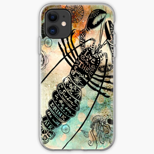 Larry the Lobster - loving the Ocean iPhone Soft Case