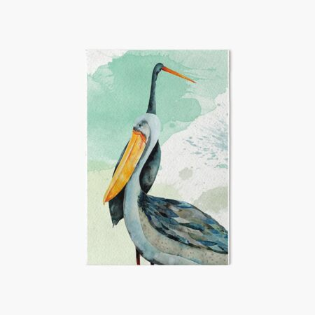 Percy the Pelican hangs out with friends Art Board Print
