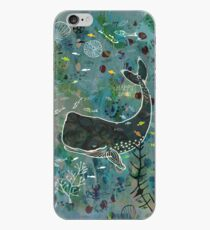 Wally the Whale hanging out with friends iPhone Case