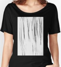 Cattails Black And White Women's Relaxed Fit T-Shirt