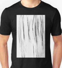 Cattails Black And White Unisex T-Shirt