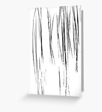 Cattails Black And White Greeting Card