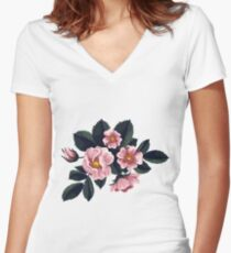 Bouquet of rose - Vintage Women's Fitted V-Neck T-Shirt