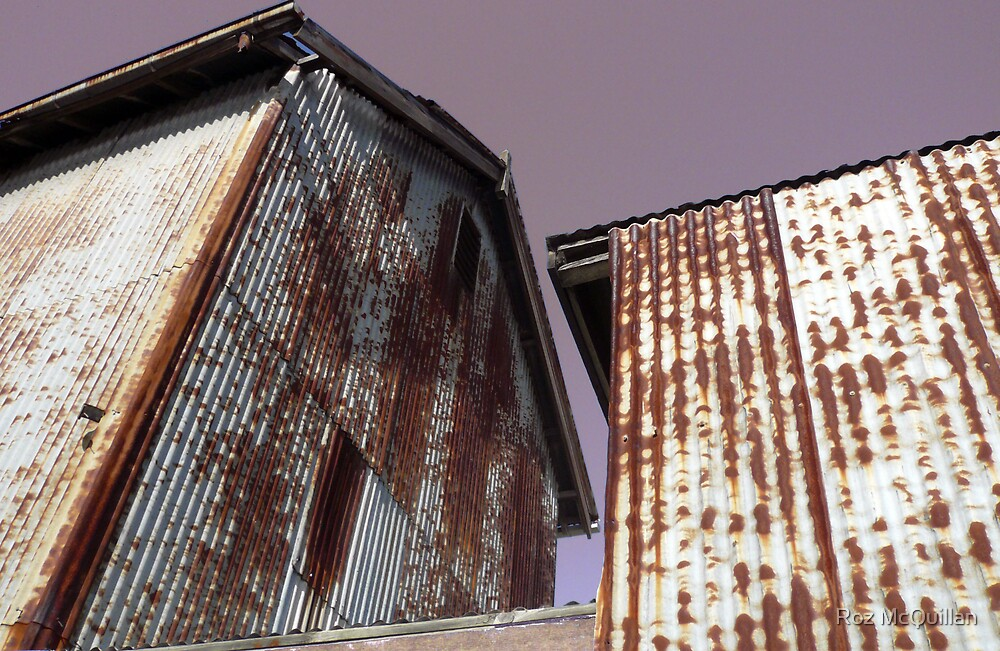 Corrugated iron buildings : photograph by Roz McQuillan