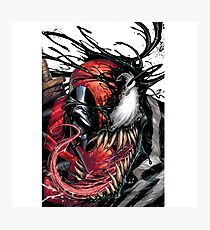 Deadpool/Venom Graphic T-Shirt Photographic Print