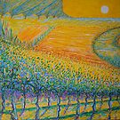 Vineyard With A touch Of Vincent Van Gogh by Vincent Loverso
